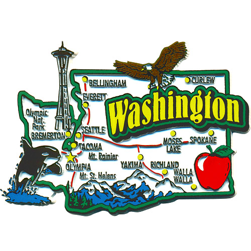 Washington State Refrigerator Magnet