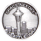 1.25  - Seattle Space Needle Pewter Magnet