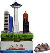 Seattle Skyline Souvenir Trinket Box, 4H