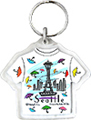 Seattle T-Shirt Shape Keychain, Umbrellas