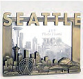 Seattle Skyline Cutout 4x6 Antique Picture Frame