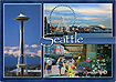 Seattle Scenic Postcard