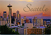 Seattle Postcard, Sunset City View