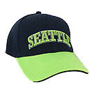 Seattle Baseball Cap, Blue with Green Highlights