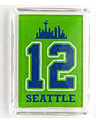 Seattle No.12 Neon Green Fridge Magnet, Acrylic