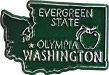 Washington State Map - Fridge Magnet
