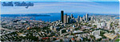 Aerial Panoramic of Seattle - Souvenir Magnet, 4-5/8L