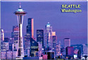 Seattle, Washington Souvenir Metal Magnet, 3-1/8L