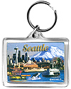 Seattle Collage Photo Acrylic Keychain
