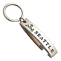 Bottle Opener Keychain from Seattle, Chrome