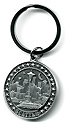 Seattle Pewter Round Keychain