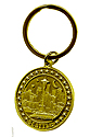 Seattle Brass Round Keychain