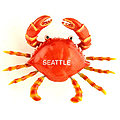 Seattle Souvenir Magnet - Red Wiggly Crab