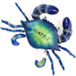 Seattle Souvenir Magnet - Blue Wiggly Crabs