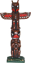 Seattle Totem Pole Fridge Magnet, 4H