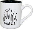 Seattle Coffee Cup in Black and White