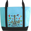 Seattle Theme Canvas Tote, 12x16