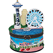 Seattle Great Wheel Trinket Box