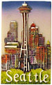 Seattle Space Needle City View - Fridge Magnet