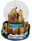 Seattle City - Musical Snow Globe, 5.5 H