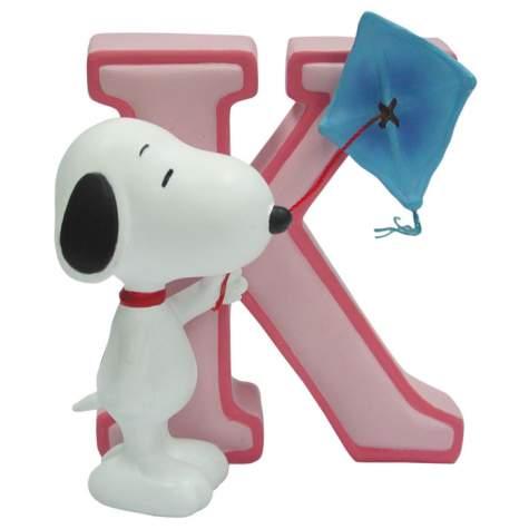 Snoopy Figurine - Letter K, 3H