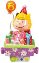 Sally Birthday Train No.6 - Peanuts Character Figurine, 3.75 H
