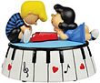 Piano Lover  Musical Figurine from Peanuts Characters, 4 H