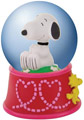Snoopy Hearts Snow Globe, 45mm