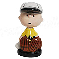 Charlie Brown Baseball Mini Bobble Figurine, 2.5 H