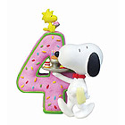Snoopy Birthday Figurine, No. 4, 3-1/4 H