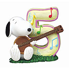 Snoopy Birthday Figurine, No. 5, 2-3/4 H