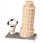 Snoopy in Italy Figurine, 3-3/4H