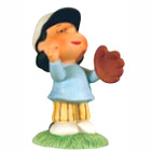 Lucy The Outfielder - Peanuts Character Figurine, 3.5 H