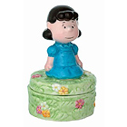 Lucy Figurine Trinket Box from Peanuts Collection, 3-3/4H
