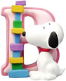 Snoopy Figurine - Letter B