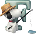 Snoopy Figurine - Letter F