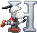 Snoopy Figurine - Letter H