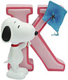 Snoopy Figurine - Letter K, 3 H