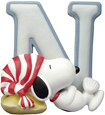 Snoopy Figurine - Letter N