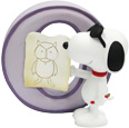 Snoopy Figurine - Letter O