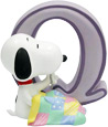 Snoopy Figurine - Letter Q