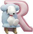 Snoopy Figurine - Letter R, 2.75 H