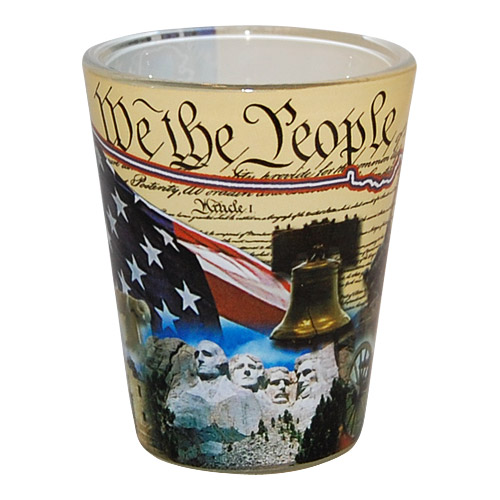 united states of america souvenir collage shot glass