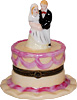 Wedding Cake Couple - Porcelain Trinket Box