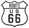 US Route 66 Die Cut Embossed Tin Sign, Ex-Large 16x16