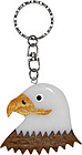 USA Souvenir Keychain - Bald Eagle in Wood
