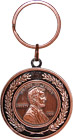 USA Commemorative Abraham Lincoln Penny Keychain, 2D