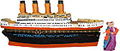 Titanic Ship - Polyresin Trinket Box, 6.25 L