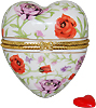 Floral Heart Trinket Box