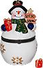 Let It Snow- Snowman Trinket Box